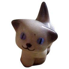 1950's Hagen Renaker Miniature Nose Up Siamese Cat Kitten Figurine