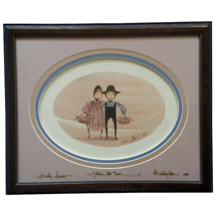 P. Buckley Moss Friends Forever Amish Folk Art Limited Edition Print ...