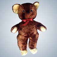 Rushton Teddy Bear Face Stuffed Plush Animal Rushton Star Music Box Atlanta, Georgia Toy 21""