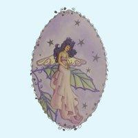 Joanne McGuire Battiste (1932 - 2009)  Fairy Lady Watercolor Painting