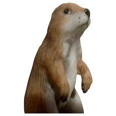 Vintage Franklin Mint, The Baby Prairie Dog Bell 1983 Peter Barret Animal Porcelain Figurine With Certificate