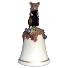 Franklin Mint Baby Hamster Bell Peter Barret Porcelain Figurine COA