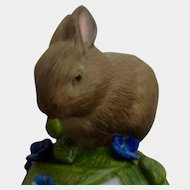 Franklin Mint The Baby Rabbit Bell 1983 Peter Barret Animal Porcelain Figurine With Certificate