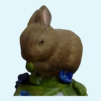 Franklin Mint Baby Rabbit Bell Peter Barret Porcelain Figurine COA