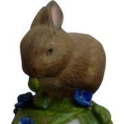 Vintage Franklin Mint, The Baby Rabbit Bell 1983 Peter Barret Animal Porcelain Figurine With Certificate