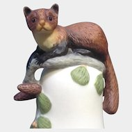 Franklin Mint The Baby Pine Marten Bell 1983 Peter Barret Animal Porcelain Figurine With Certificate