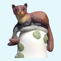 Franklin Mint Baby Pine Marten Peter Barret Animal Porcelain Figurine COA