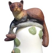 Franklin Mint, The Baby Pine Marten Bell 1983 Peter Barret Animal Porcelain Figurine With Certificate