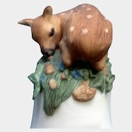 Franklin Mint The Baby Deer Bell 1983 Peter Barret Animal  Fawn Porcelain Figurine With Certificate