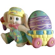 Crayola  Bunny Rabbit Pulling Easter Egg Cart 1990 Hallmark Cards Collectable by Binney & Smith Co.