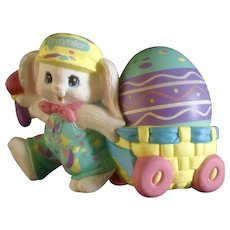Easter Crayola Bunny Rabbit Pulling  Egg Cart 1990 Hallmark Cards Collectable by Binney & Smith Co.