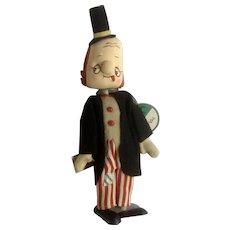 Mid-Century Dream Pets Du-Val Rare Hobo Clown Stuffed Plush Tokyo, Japan Toy