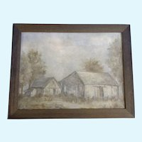 Boling, Oil Painting, Rural Homestead Signed by Artist