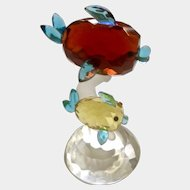 Sorelle Crystal Fish Figurine Adorable Red and Yellow Fish