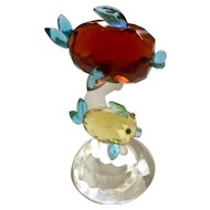 Sorelle Crystal Fish Adorable Red and Yellow Fish Figurine