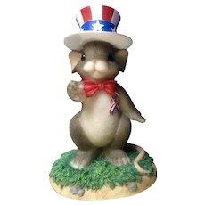 Charming Tails You Make Me Proud, Mouse with Uncle Sam Hat  98/297 USA American Dean Griff Fitz & Floyd Figurine