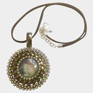 Premier Designs Large Pendant Necklace With Rhinestones Reversible Enhancer