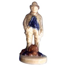 Wade Paddy Reilly Irish Folk Song Porcelain Figurine Man with Dog Character Figural