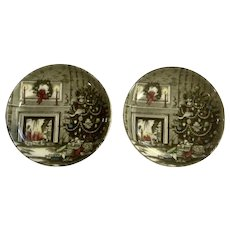 Merry Christmas by Johnson Brothers Coaster Set Ceramic Discontinued 4-1/8 Inch
