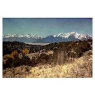 Stanfield, Rural Mountains Photorealistic Large Acrylic Painting on Canvas Signed by Artist