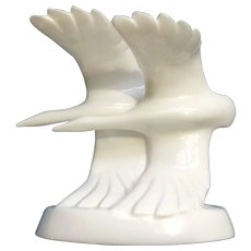 Vintage Royal Doulton Images Going Home Geese in Flight Porcelain White Figurine 1982