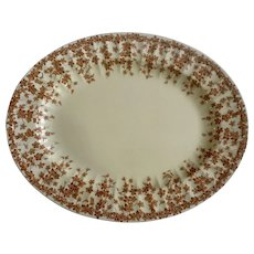 "Crown Ducal Early English Ivy Brown, Smooth, Oval Serving Platter 11-1/2"" Dinnerware"