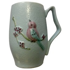 "Serenade Blue (Matte Gloss) by Hull Bird Mug 5 1/4 "" Pottery Cup"