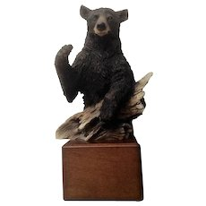 Sugar Bear Mill Creek Studios 140100 Black Bear Statue Figurine Artist Stephen Herrero 1998