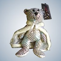 Liberace Teddy Bear Plush Limited Edition Signature Series Sequined 1999 Bean Bag Stuffed Animal Discontinued
