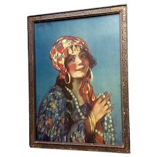 Young Gypsy Woman Life 1800's Print Campbell Prints Inc, NY, Alfred S Campbell (1840-1912)