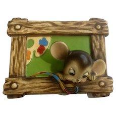 Josef Originals Mouse Artist Painter Ceramic Wall Plaque Figurine Japan