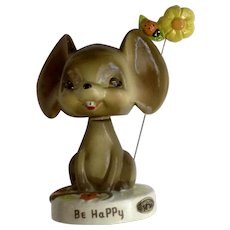 Josef Originals Be Happy Mouse Bobblehead Nodder with Ladybug Flower Figurine Japan