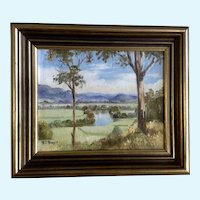 D J Boyd, Landscape River Valley Oil Painting