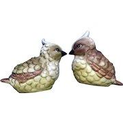 Josef Originals Baby Blue Jay Green Bird Vase Animal Figurines