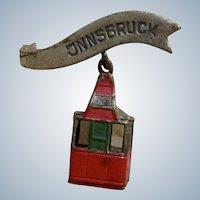 Vintage Oktoberfest German Hat Pin Bavarian Innsbruck Cable Car
