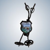 Vintage Hat Pin El Pas De La Casa Italy Ski Poles