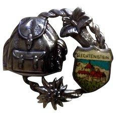 Vintage Oktoberfest Liechtenstein Hat Pin
