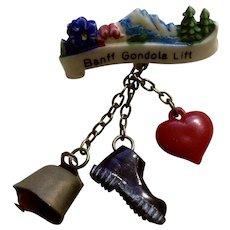 Vintage Banff Gondola Lift Canada Hat Pin