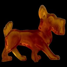 Vintage Acrylic / Lucite Scottie Scottish Terrier Dog Animal Figurine