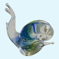 V. Nason & C Murano Glass Italy Snail Art Crystal