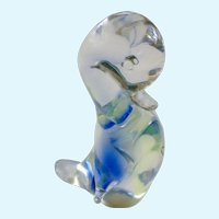 V. Nason & C Murano Glass Italy Duck Bird Art Crystal
