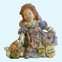 Enesco Angel Figurine Sweet Daughter Ballerina Shoes Patterns of Life #255289 Claudia Stening Olsen Resin 1996