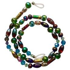 "Gorgeous Eyeglass Beaded Necklace Holder Costume Jewelry 24"""