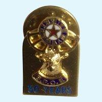 B.P.O.E. Elk Lodge Pin 30 Year Service Award Member