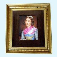 Helene Sedlmayr,  Portrait on Porcelain Transferware