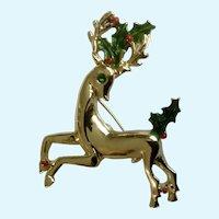 Christmas Reindeer Gerry's Brooch Pin