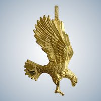 Golden Eagle Gold Tone Pendant Costume Jewelry 1-1/4""