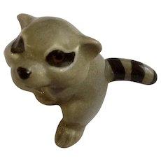 Retired Hagen Renaker Raccoon Baby Miniature Animal Figurine Helen Perrin Farnlund 1983-1989