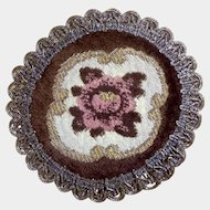 Victorian Tapestry Rose Doily Metallic Small Round Lace Trim