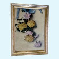M. L. Duncan Hanging Floral Still Life 1897 Antique Oil Painting
